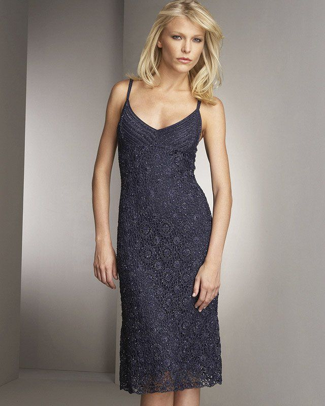 Вечернее платье крючком из