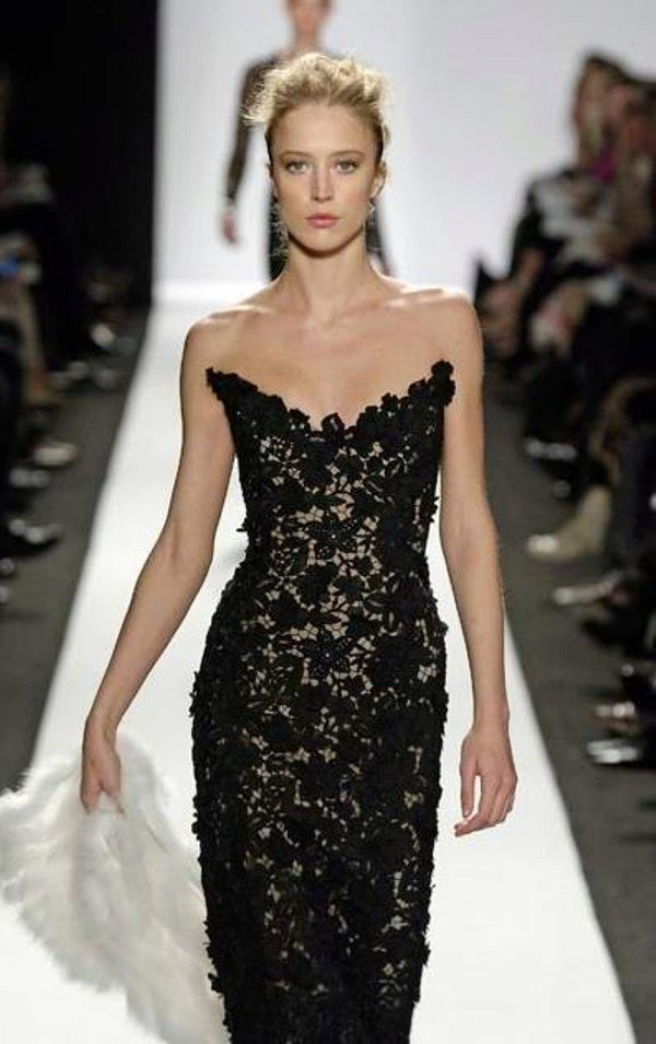 Вязаные вечерние платья крючком схемы и модели