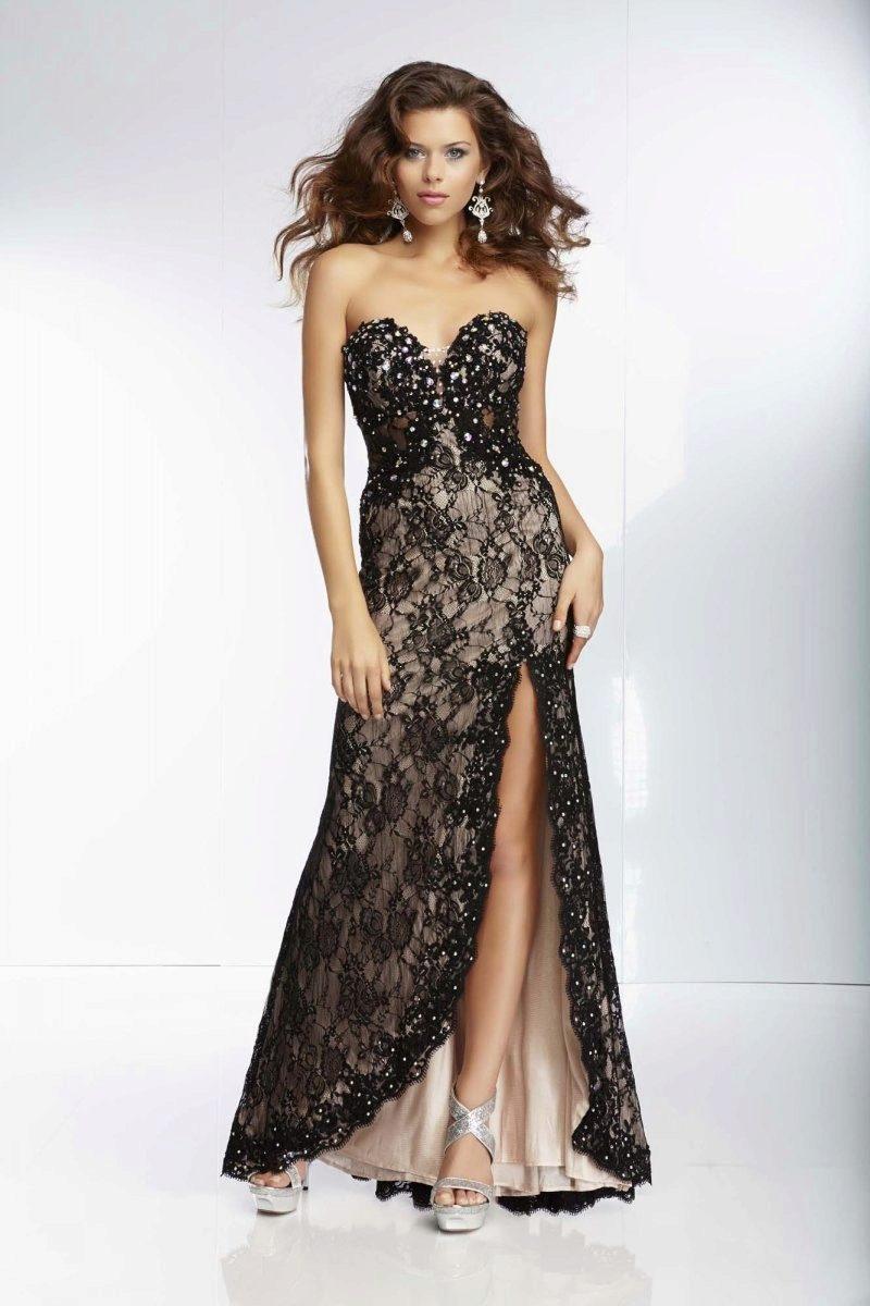 Кружевные вечерние платья длинные