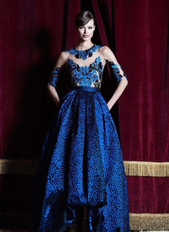 7fb4e6e2b98 Вечернее платье короткое спереди длинное сзади синее