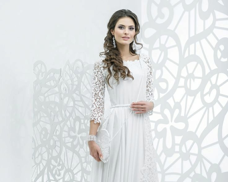 Платье россыпь жемчуга крючком женское белое