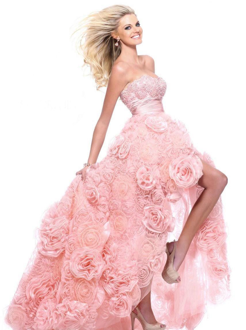 Розовые свадебные платья: лучшие оттенки, пышное, короткое или