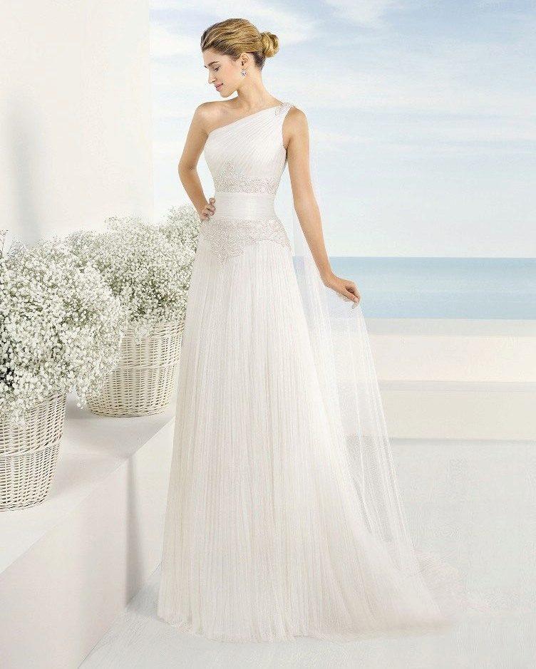 fb24bf9328a Свадебное платье в греческом стиле на одно плечо