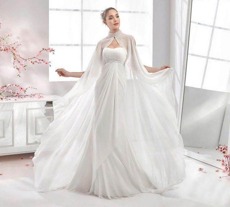 96b08c91e33 Свадебное платье в греческом стиле с накидкой