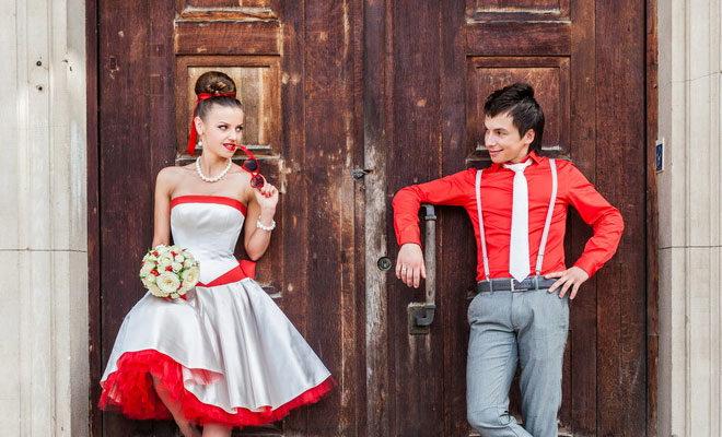 Свадьба в стиле Стиляги - оформление, пригласительные и