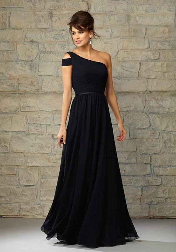 8ca22087748 Черное платье вечернее на одно плечо для женщин 40 лет