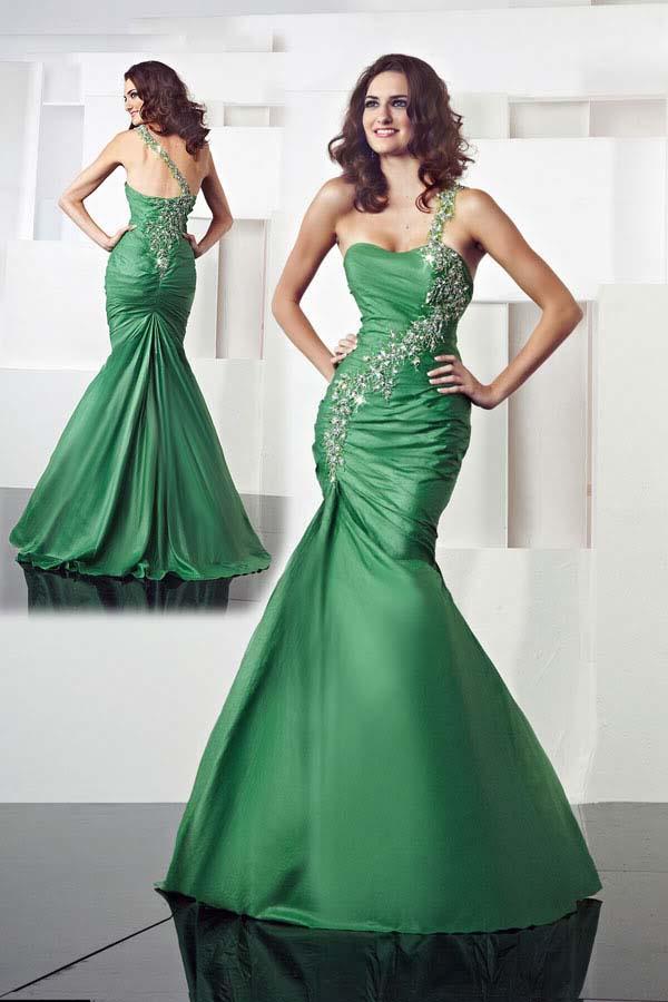 Если свадебное платье зеленого цвета