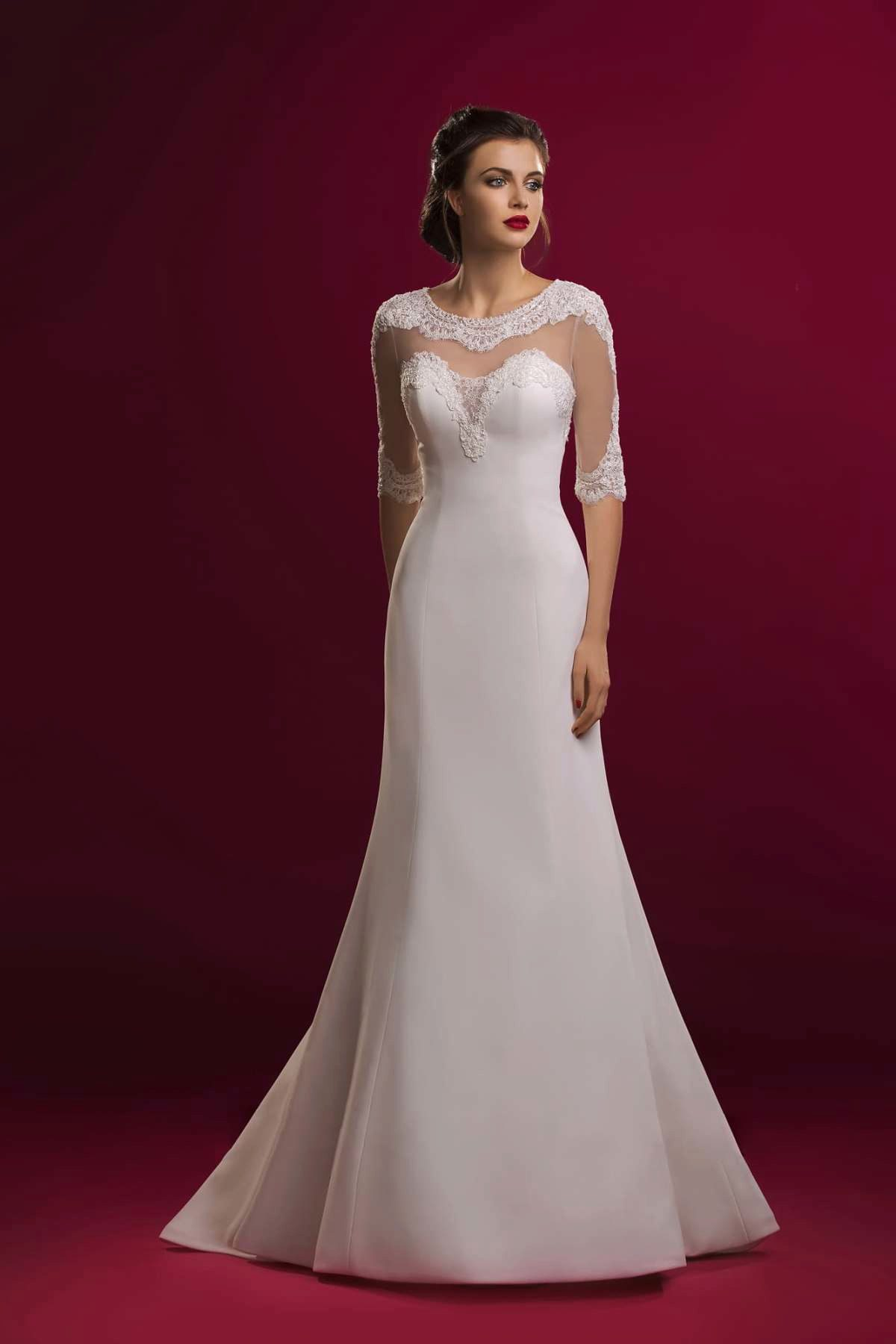 Маленькое платье с кружевом, ярко-розовый/лиловый