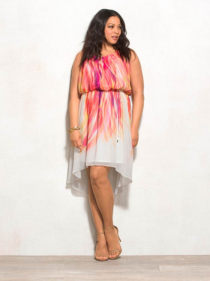 2065852990a Цветное вечернее платье для 54 размера