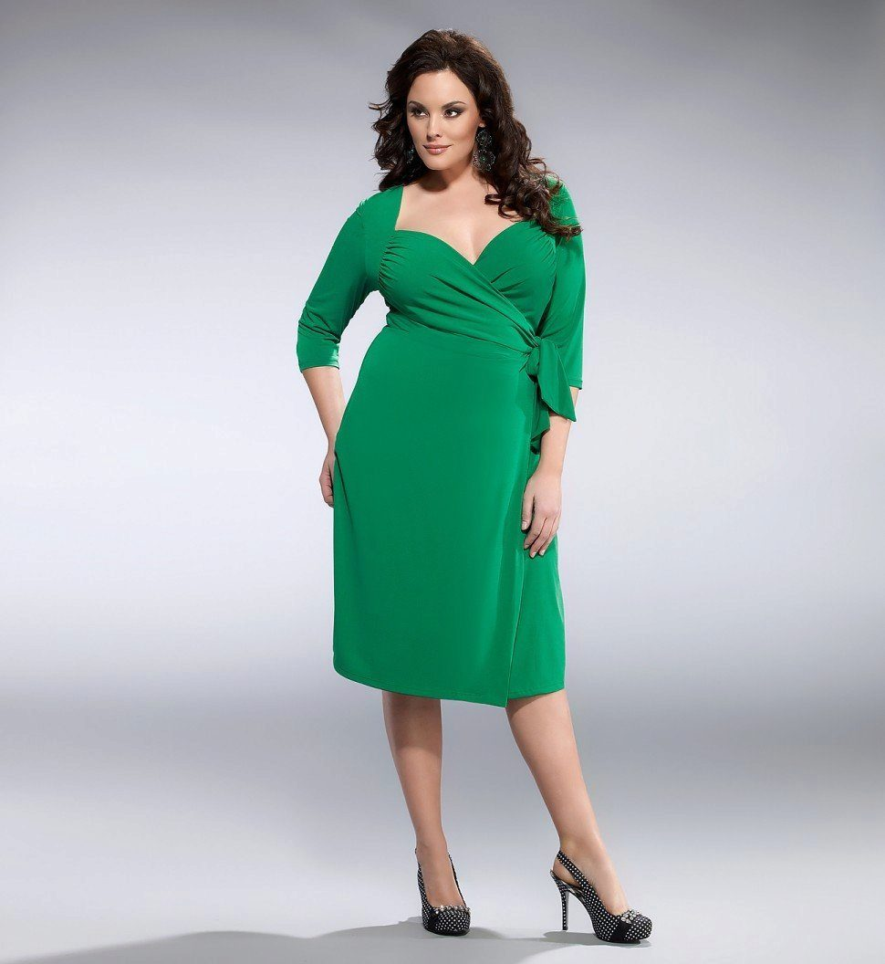 1a7030b4347 Зеленое вечернее платье с рукавами для 52 размера