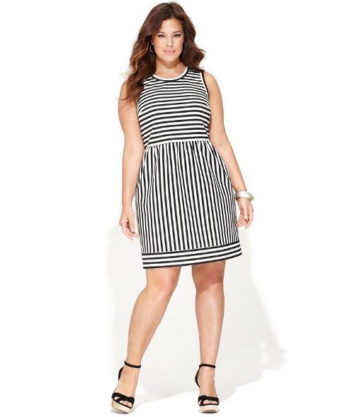 3c0681c6aed Вечернее платье в полоску для 54 размера