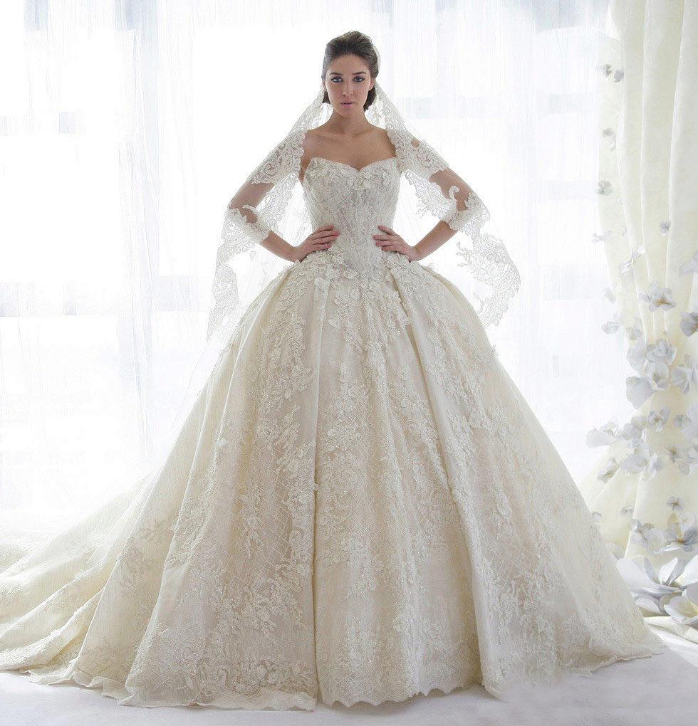 4d4cfd36b48a904 Самые красивые свадебные платья: с жемчугом, стразами, кружевом ...