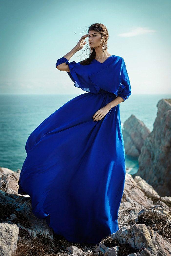 Праздничное платье из шелка