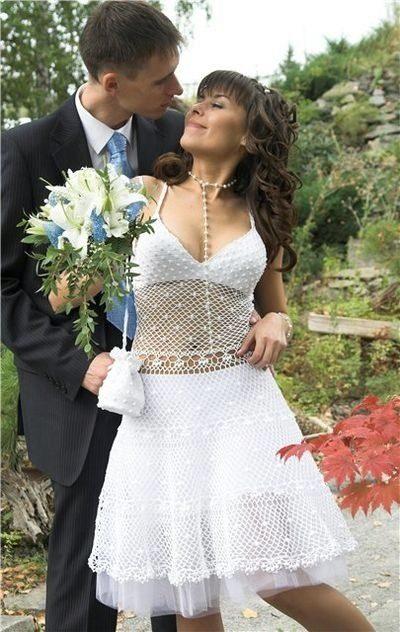платье крючком кружевное вязанное