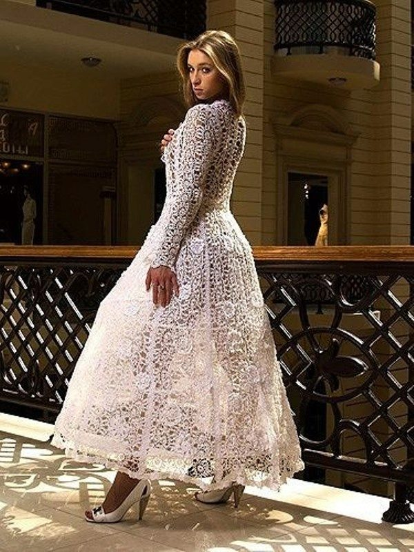 Вязанные свадебные платья. фото.