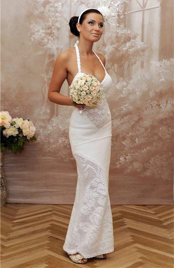 Свадебное платье крючком связать