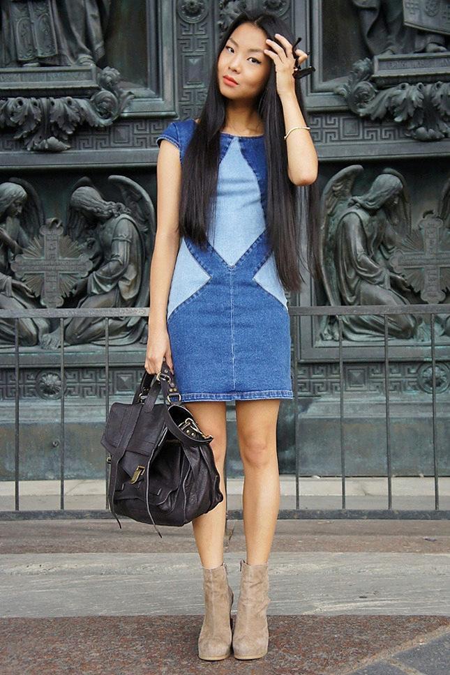 Джинсовые платья своими руками
