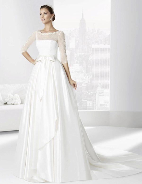 свадебное платье закрытое с кружевом фото