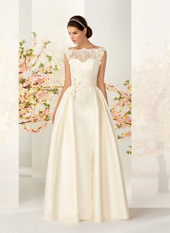 Свадебные платья жемчужный цвет
