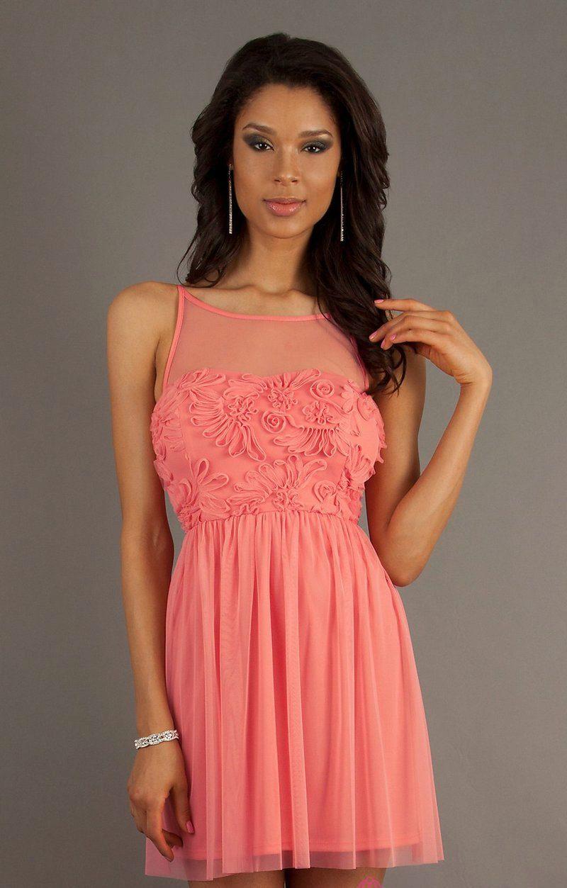 Розово-коралловые платья