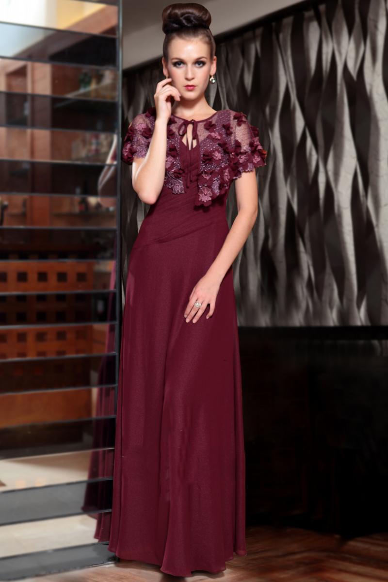 621d9ea6dc6f Платье винного цвета  с чем носить, сочетания, туфли, аксессуары и ...