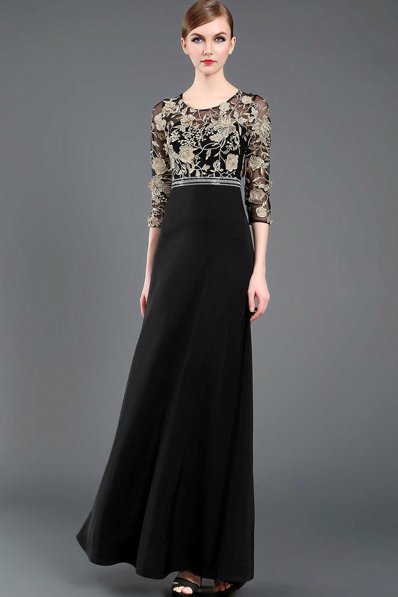 Чёрное платье из китая