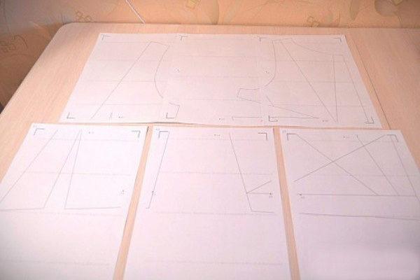 Как сделать выкройку на миллиметровой бумаге для фартука 110