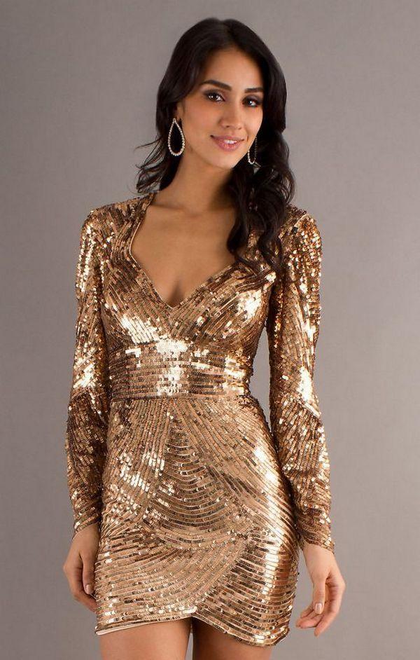 Платье золотого цвета мини длины 10f4361e72e0b