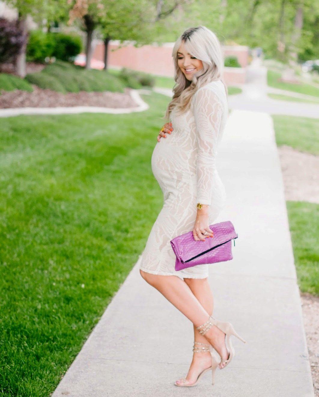 Белые платья для беременных  лучшие фасоны, длинное в пол и короткое ... fdcc0d11476