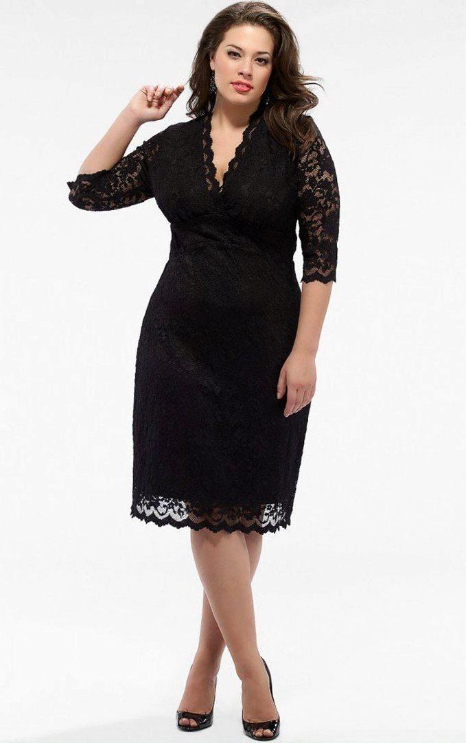 3e546e891c6 Черное платье для полных  маленькое черное платье для полных женщин ...