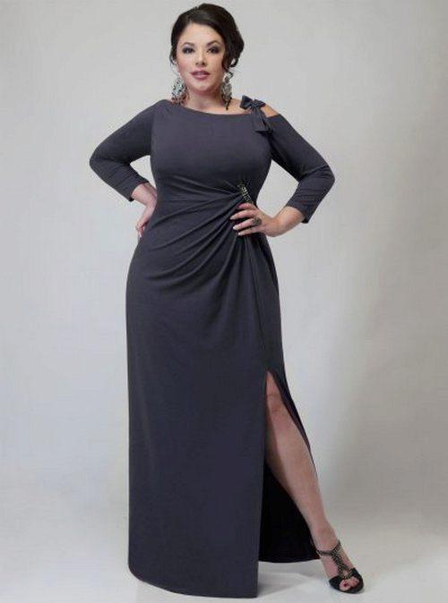 2a0013e0ed37 Фасоны платьев для полных: для женщин с большим животом, ногами и ...