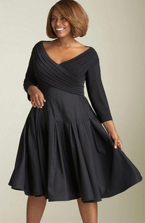 Платье черное скрывающее живот