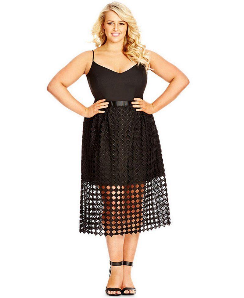 f5b4f29841b Фасоны платьев для полных  для женщин с большим животом