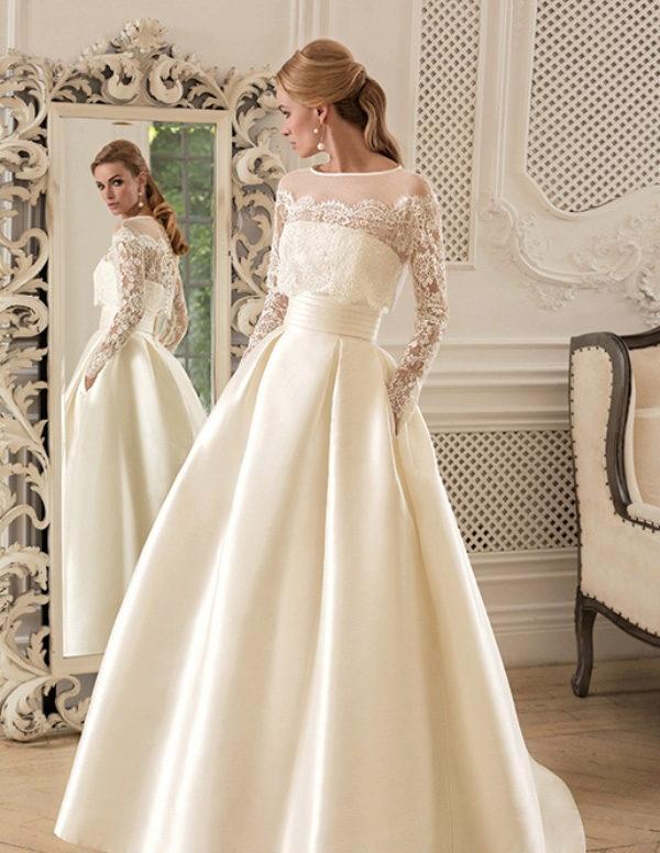 Свадебное платье без кринолина