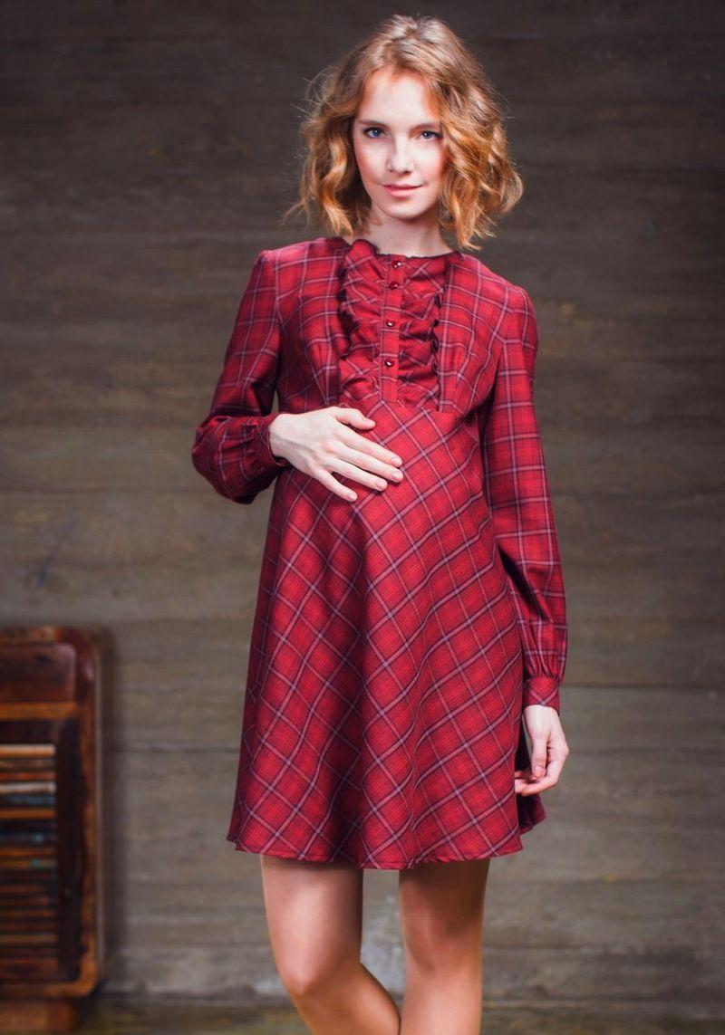 Платья в пол красное для беременных