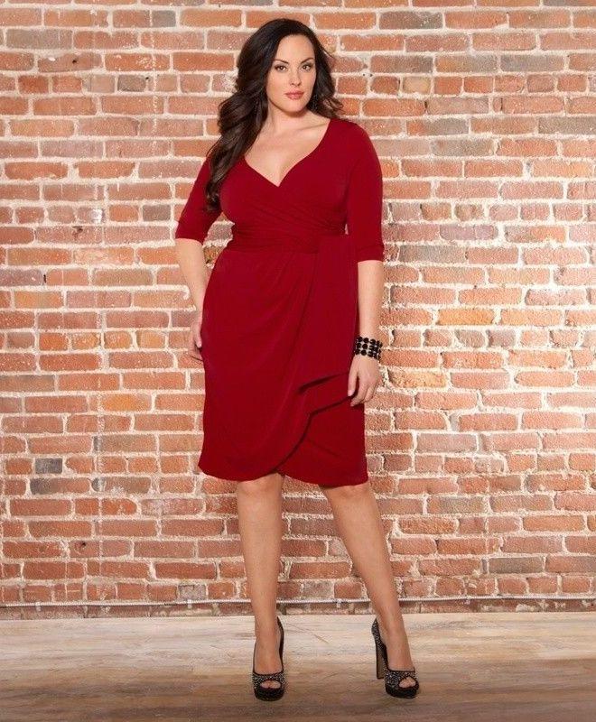 Красное платье для полной женщине