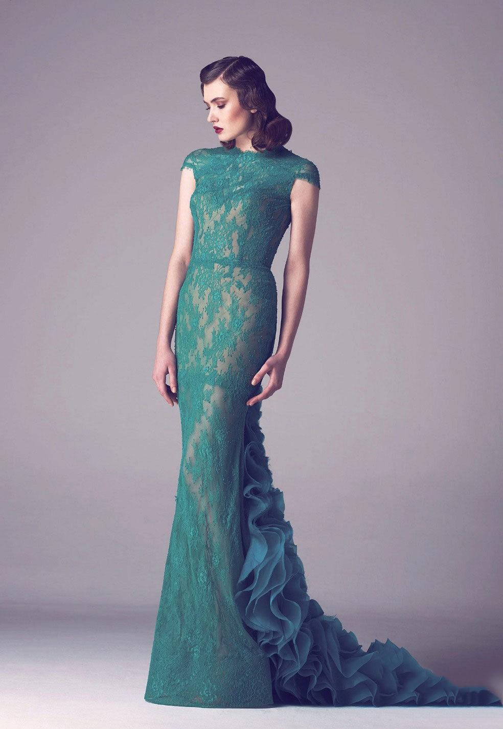 c7371ca815d Платье цвета морской волны  с чем носить