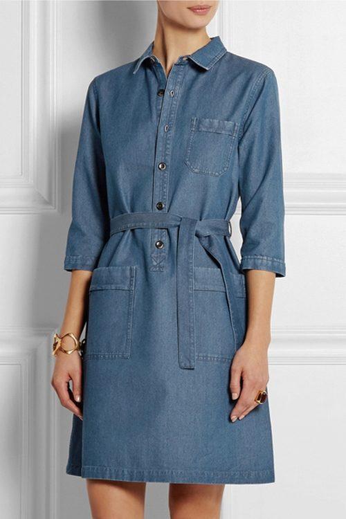 Платье джинсовое сафари