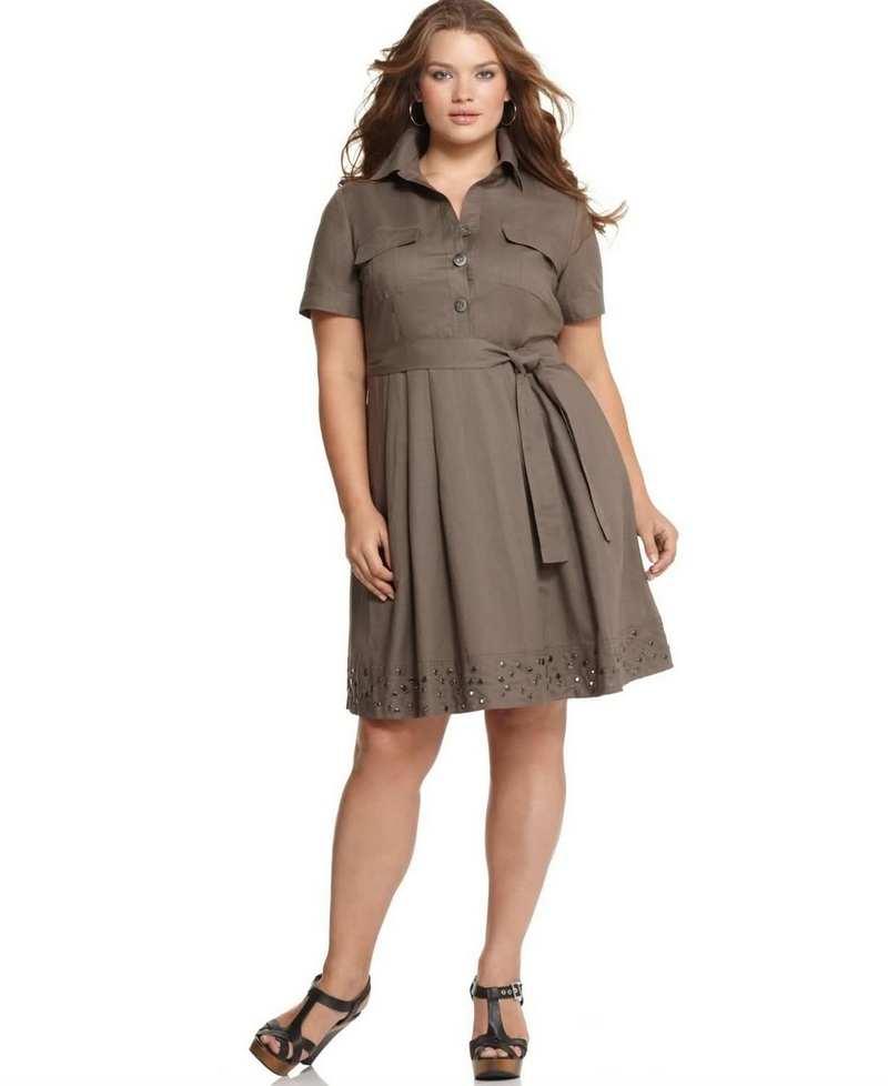 Платье Сафари Для Полных Женщин Купить