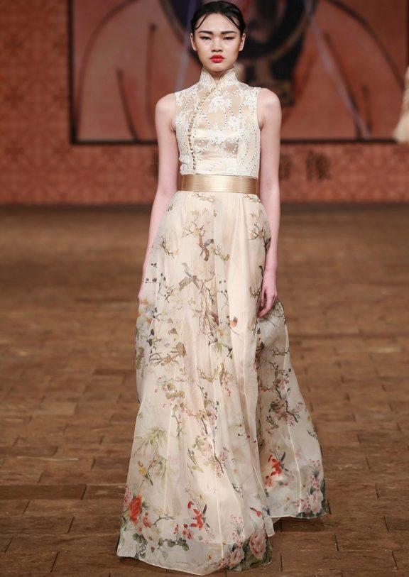 Свадебном платье в восточном стиле