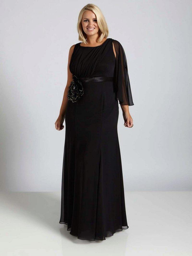 Из чего сшить черное длинное платье 242