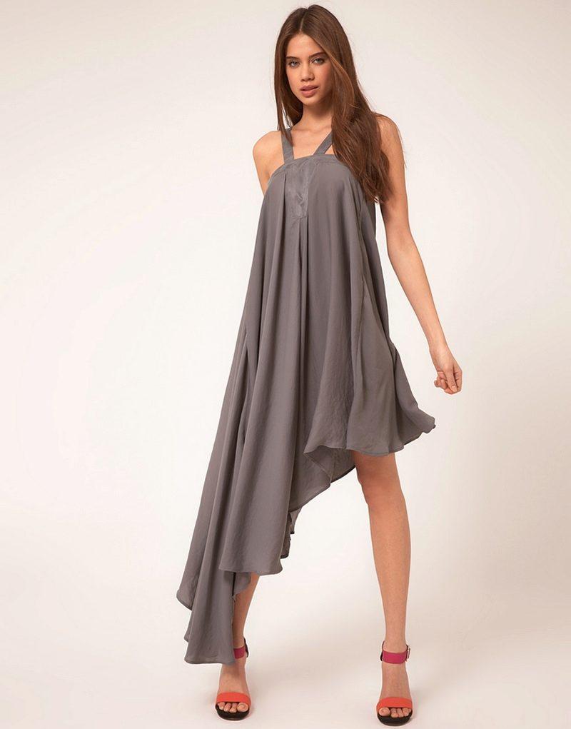 Платья с косой юбкой фото