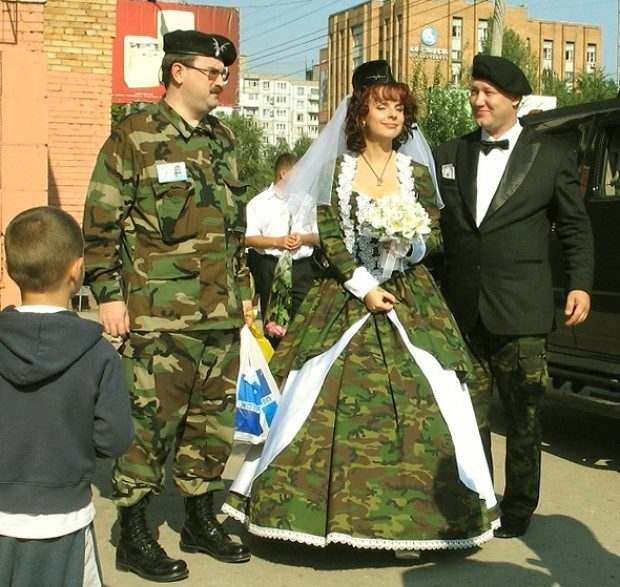 Военные свадебные платья