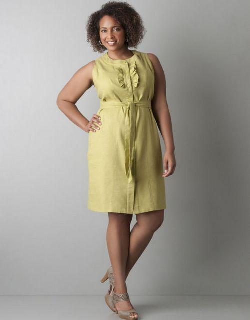 Платья из льна для полных женщин сшить 92