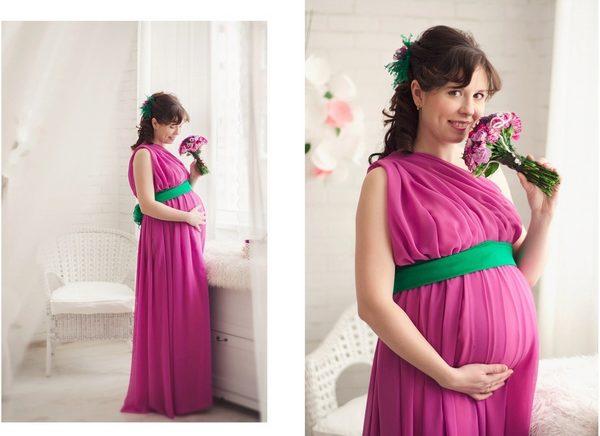 ca620bd4b142 Платье для беременных своими руками  простые выкройки, греческое ...