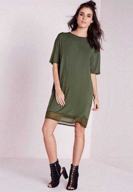 Прямые платье из шифона