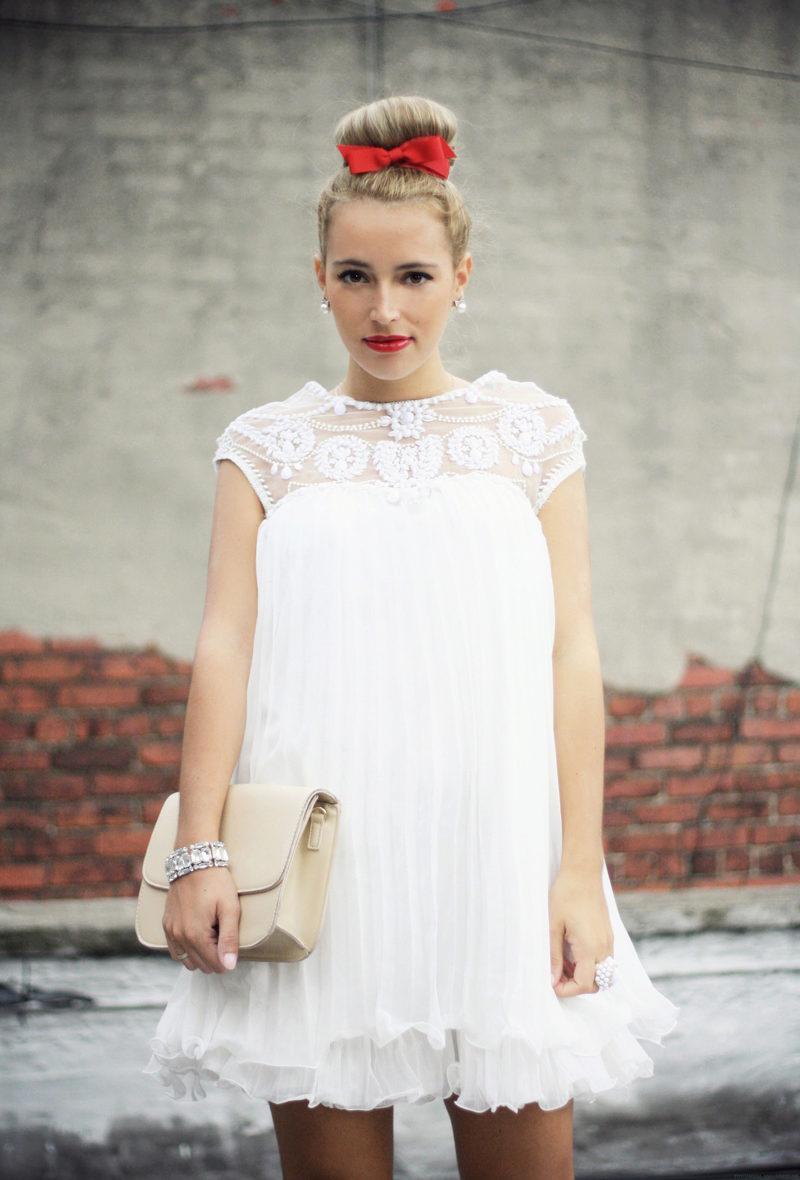 Белое платье для беременных