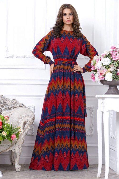 Длинны платья из трикотажа