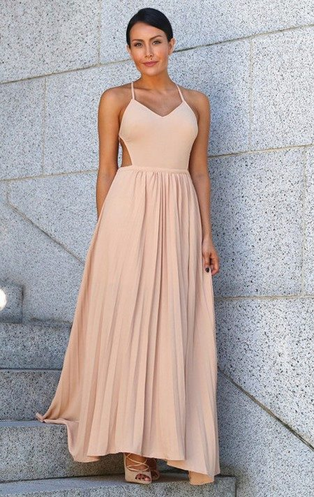 Платье плиссировка в пол
