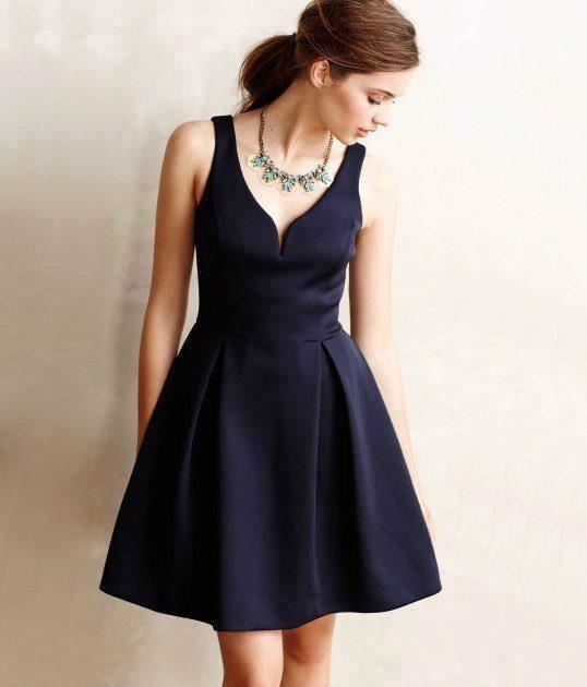 Красивые короткие платья классика